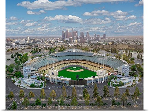 Poster Print entitled Los Angeles Dodger Stadium by Copterpilot Photography (Los Angeles Dodgers Stadium)