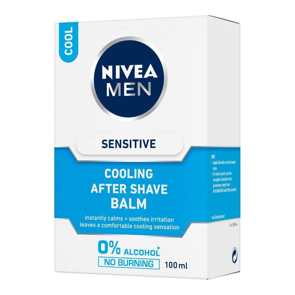 Aftershave & Pre-shave Shaving & Hair Removal Nivea Men Sensitive Cooling After Shave Balm 100ml Fast Color