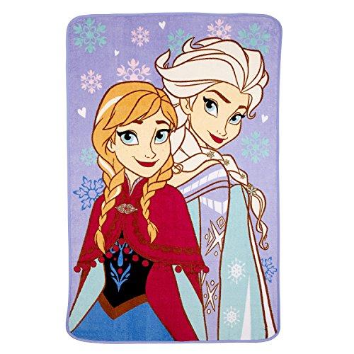 Disney Frozen Sisters Forever Super Soft Toddler Blanket, Purple/Pink