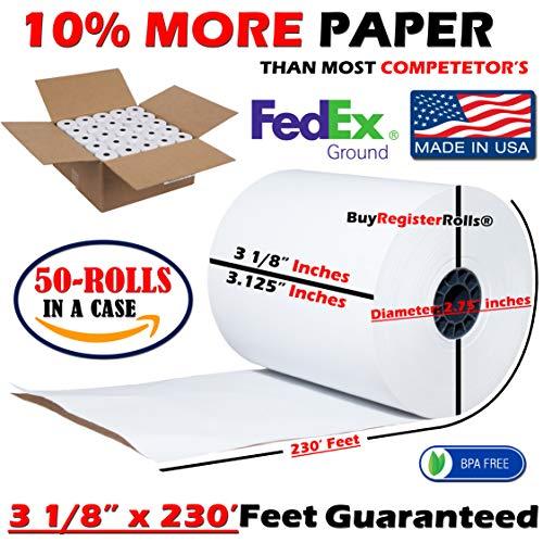 x thermal paper diameter cash