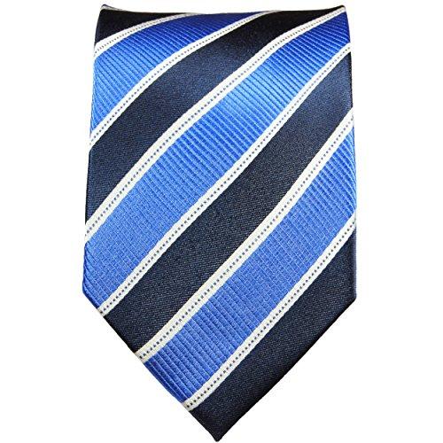 Cravate homme bleu rayée 100% soie