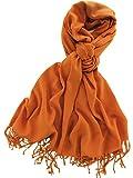 La Purse Pashmina Shawl Scarf - Warm & Extremely Soft - Size 79'' L X 29'' - Pumpkin