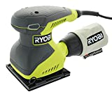 Ryobi S652DGK Corded 2 Amp 1/4 Inch 14,000 OBM Squared Orbital Finishing Sheet Sander For Sale