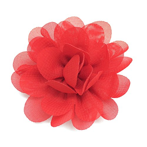 PEPPERLONELY 10PC Set Red Fashion DIY Artifical Fabric Flowers, 2.2 Inch by PEPPERLONELY