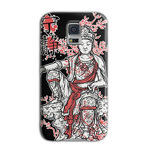 [Buddha Goddess China Asia Japan NEW Black 3D Samsung Galaxy S5 Case | Wellcoda] (China National Costume Name)