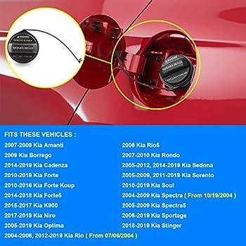 Gas Cap Fuel Tank Cap Replace 31010-3L600U,310103L600U,Compatible with Kia Sorento Sportage Rio Optima Spectra Soul,More