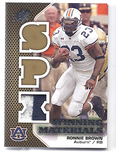RONNIE BROWN 2010 SPX Winning Materials Patch #WMPBR 2 COLOR JERSEY PATCH Card #111 of only 125 Made! Auburn Tigers San Diego Chargers Football