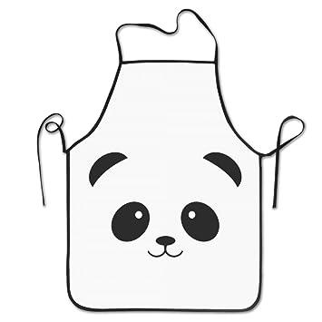 Ajustable Babero delantales de dibujos animados de Panda blanco negro: Amazon.es: Hogar
