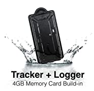 KingNeed Magnet Portable SPY GPS Tracker + Logger with 4GB SD Card/180 Working Days long battery life/ IPX7 WaterProof/ Remote Voice Bug/ GSM Home Alarm/for Personal and Car Vehicles