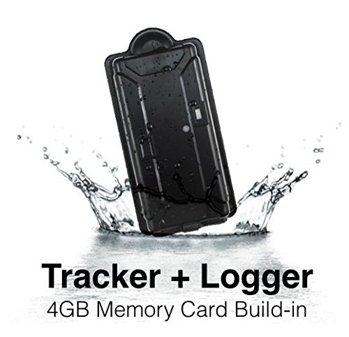 KingNeed Magnetic Portable SPY GPS GSM Tracker + Logger with 4GB SD Card/180 Working Days long battery life/ IPX7 WaterProof/ Online Real-time tracking/ GSM Home Alarm/GEO-fence/Drop alert/for Personal car / vehicle / E-bike TK05SD