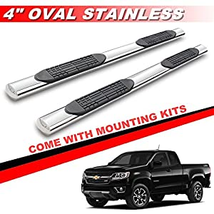mifeier 4 nerf bars side step rails running boards for 2015 2016 chevy colorado gmc. Black Bedroom Furniture Sets. Home Design Ideas
