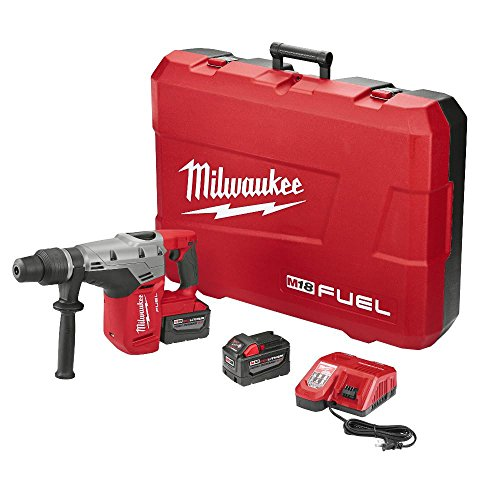 Milwaukee Tool 2717-22HD Rotary Cordless SDS Max Hammer Drill Kit 1-9/16 Inch 18.75 Inch M18TM FuelTM SDS -