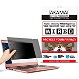 """14"""" Akamai Computer Privacy Screen (16:9) - Black Security Shield - Laptop Monitor Protector - UV and Blue Light Filter"""
