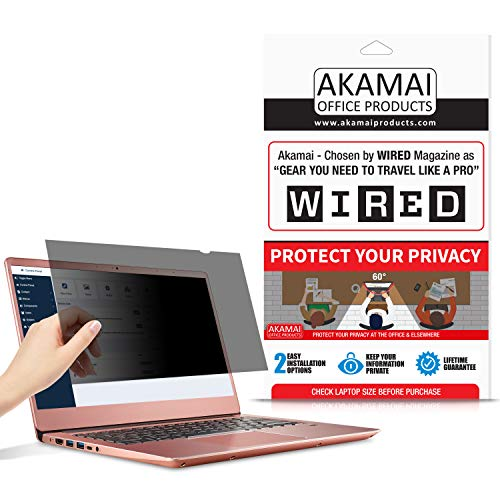 12.5 Akamai Computer Privacy Screen (16:9) - Black Security Shield - Laptop Monitor Protector - UV & Blue Light Filter (12.5 inch Widescreen (16:9) [AP12.5W], Black)