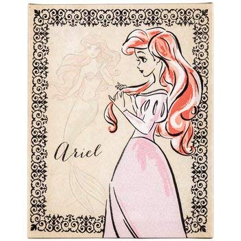 (Disney Princess Ariel Vintage Fashionista Canvas Wall Decor Art Home Bedroom Decoration)