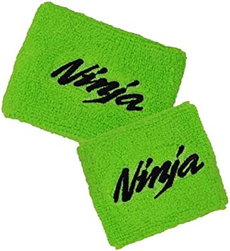 Pack of 1 Kawasaki Ninja Logo in Green Front Reservoir Brake Cover MoToSox
