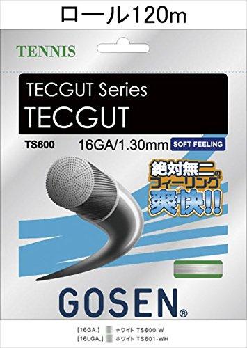 GOSEN(ゴーセン) テックガット16 TECGUT 16 120mロール TS6001W 1805 【メンズ】【レディース】 W.ホワイト  B07CZZDV64