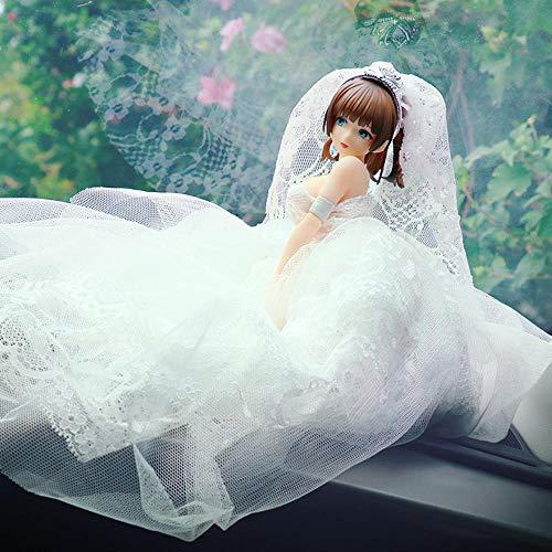 HYHSM PVC Boda Chica Anime Hermosa Chica Chasis Coche PVC Accion Muneca Software Decoracion de Escritorio Estatuilla En Caja
