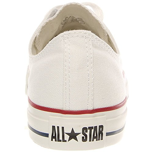 Converse Unisex Chuck Taylor All Star Low Top Optical White Sneakers - 10.5 D(M) US lO0pegKy