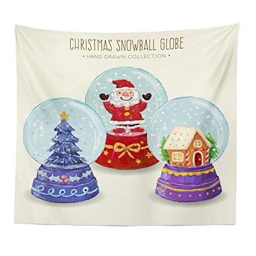 Dreamyth Christmas Xams/Halloween Pumpkin Tapestry Throw Wall Hanging Santa Claus Snow Man Blanket Home Decor (36 F -