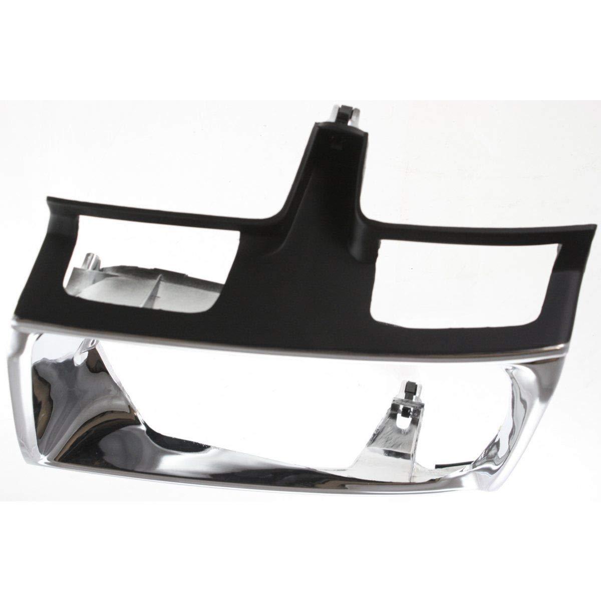 New Head light Headlight Door Headlamp Bezel Passenger Right Side Chrome
