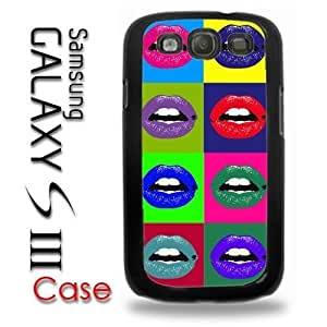 For Case HTC One M7 Cover Plastic Case - Pop Lips Pop Art Andy Warhol Art