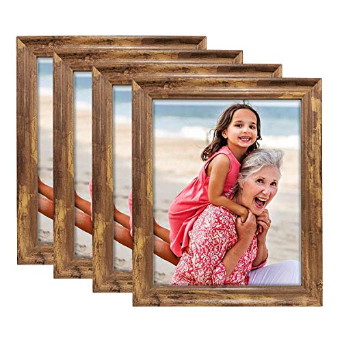 Farmhouse Rustic Brown Wood Pattern Photo Frames