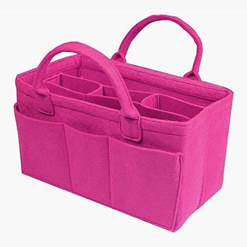 Customizable L.V. Bag Organizer (w/Handles & Detachable Compartments), Tote Felt Purse Insert Cosmetic Zip Key Chain Holder Diaper Pocket