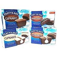 Tastykake Chocolate Lovers Variety Pack | 4 Boxes Snack Cakes | Chocolate Cupcakes, Creme Filled Cupkakes, Buttercreme Iced Cake, Chocolate Kandy Kakes