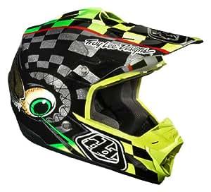 Troy Lee Designs Baja SE3 MotoX/Off-Road/Dirt Bike Motorcycle Helmet - Black/Yellow / Small