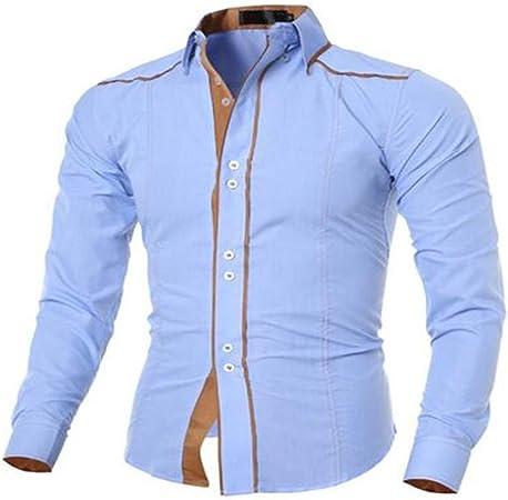 ERCQA Camisa Camisa Casual Hombres de la Marca Camisa Delgada ...