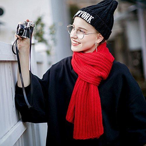 Gules SED ScarfWoman Winter Scarf Thick Warm Knit Scarf Long Scarf Shawl AllMatch