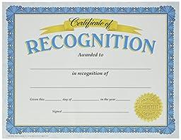 Trend Enterprises Certificate of Recognition, 30 per Package (T-11304)