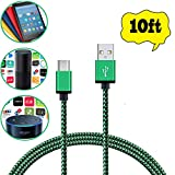 Micro USB Charger Cable for Amazon Echo Dot,Fire HD 8 Tablet and Kindle eReaders High Speed Nylon Braided (10ft)