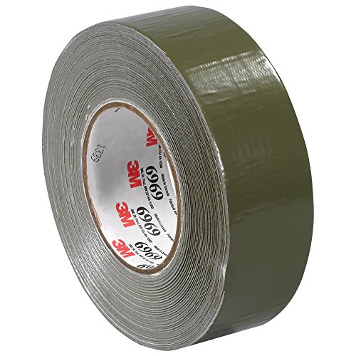 """Boxes Fast 3M 6969 Duct Tape, 10.7 Mil, 2"""" x 60 yds, Olive G"""
