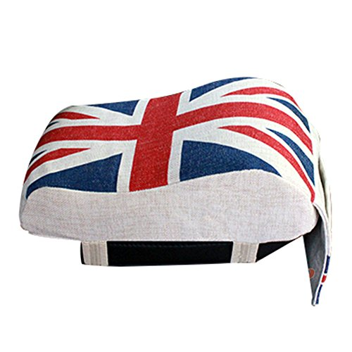 A.B Crew Breathable Memory Foam Car Armrest with Phone Holder All Seasons Auto Seat Cushion Center Consoles Cushion, Union Jack