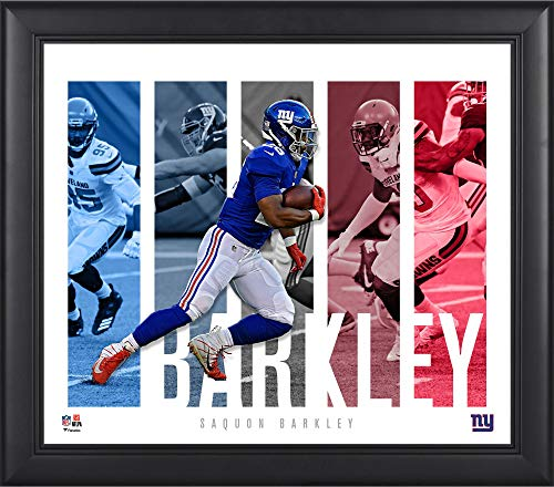 New York Giants Player - Saquon Barkley New York Giants Framed 15