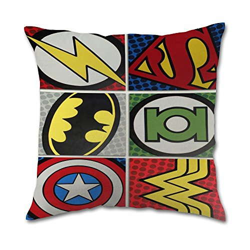 Dc Comic Marvel Superhero Pillow Cover (20x20 inch twin side)