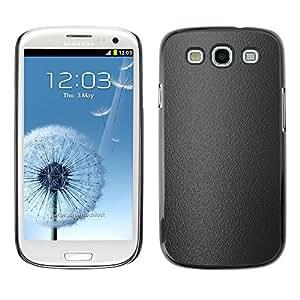 Be Good Phone Accessory // Dura Cáscara cubierta Protectora Caso Carcasa Funda de Protección para Samsung Galaxy S3 I9300 // Gray texture
