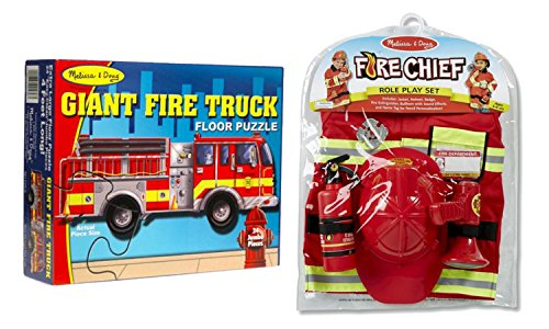 Bitty Kitty (Melissa and Doug Fireman Play Bundle - Fire Chief Role Play Costume Set, Giant Fire Truck Floor Puzzle, Bonus Paw Patrol Itty-Bitty Kitty Rescue Adventure)