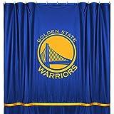 NBA Golden State Warriors Shower Curtain, 72 x 72, Bright Blue