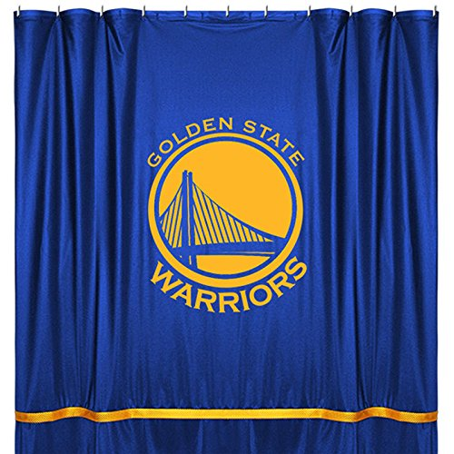 NBA Golden State Warriors Shower Curtain, 72 x 72, Bright Blue