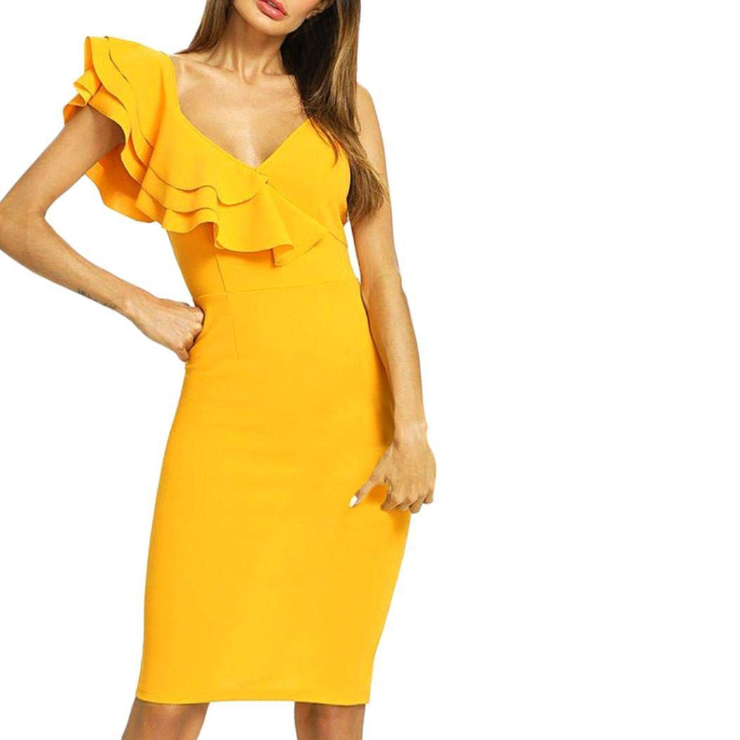 POLP Mujeres Vestido Corto ◉ω◉ Cuello V Vestido Mujer Verano Mini Vestido Casual de Mujeres Vestido Niña Vestido de Fiesta Vestir Ropa Falda Sin Manga ...