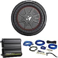 Kicker 43CWRT101 COMPRT10 10 800W Slim Subwoofer+Mono Kicker Amplifier+Amp Kit