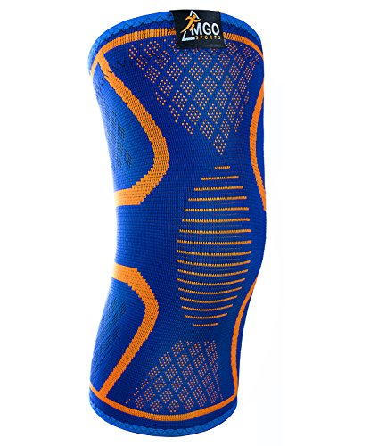 Mgo Sports Compression Knee Sleeve By Knee Brace For Meniscus Tear  Arthritis  Tendonitis  Comfortable And Non Slip Design  For Running  Walking  Crossfit  Yoga  Basketball And Weightlifting  L
