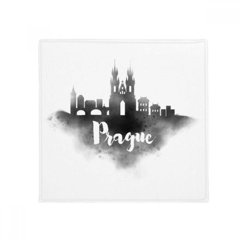 DIYthinker Prague Czech Landmark Ink City Anti-Slip Floor Pet Mat Square Home Kitchen Door 80Cm Gift