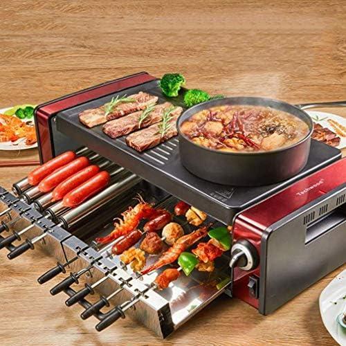 Ybzx Machine de Barbecue électrique Domestique Multifonctionnel de Style coréen sans fumée BBQ Grill Hot Pot BBQ Machine intégrée, L