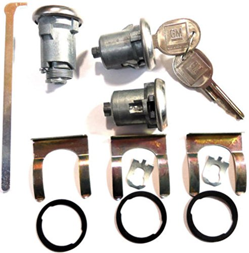 Chevrolet Gm OEM Chrome Doors/trunk Lock Key Cylinder Set with 2 Keys to Match (Lock Trunk Camaro)