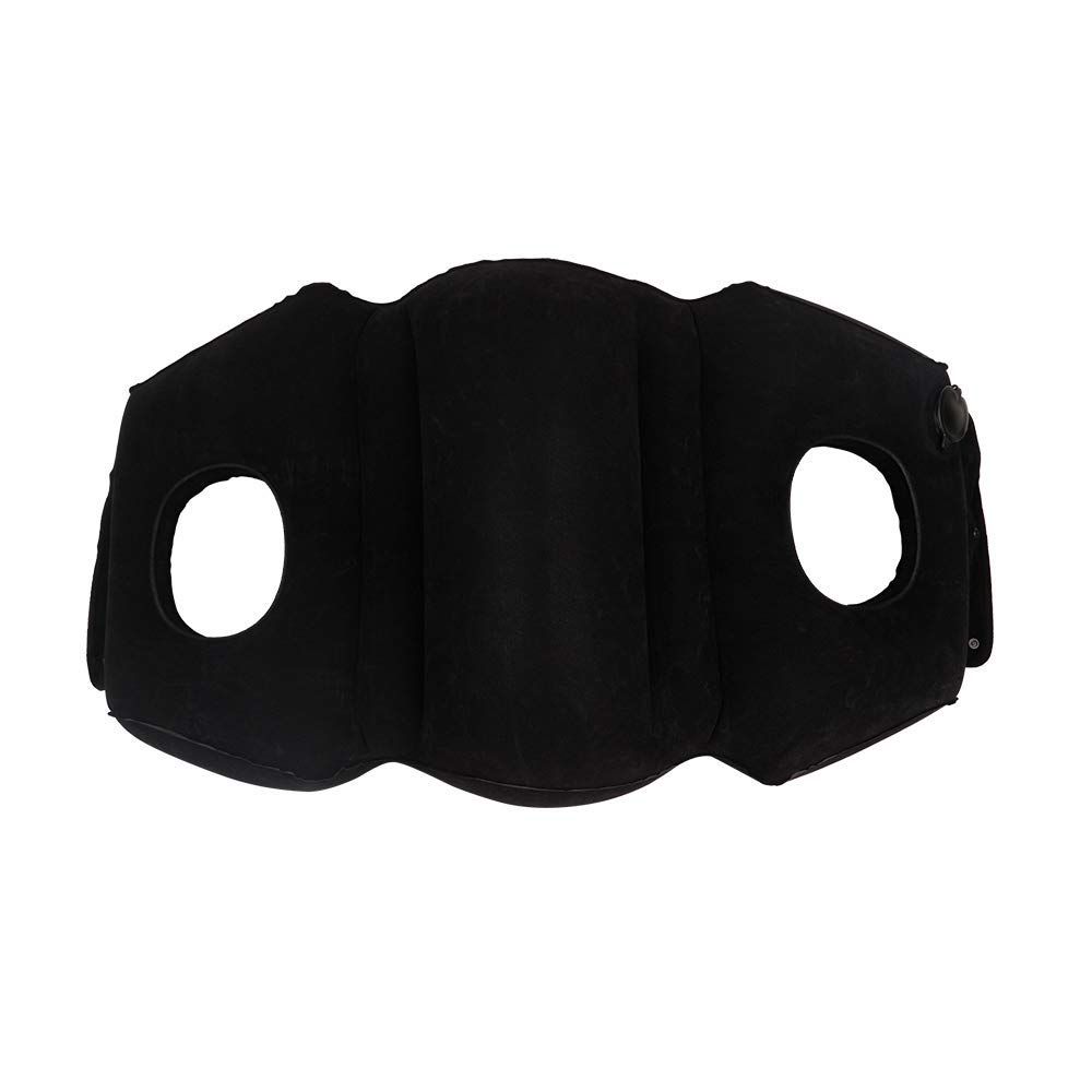 HAIYANLE COUKONG Travel Pillow Multifunction Pillow Removable as a Swim Ring Portable Head Neck Rest Inflatable Pillow and so on Black Cars Brand Design for Airplanes