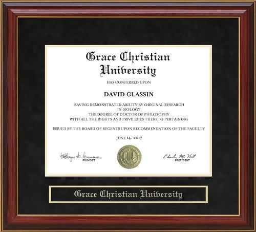 Grace Christian University Diploma Frame - Mahogany by Wordyisms